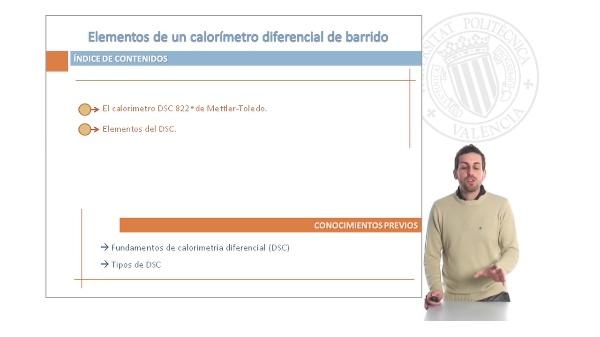 Elementos de un Calorimétrico Diferencial de Barrido