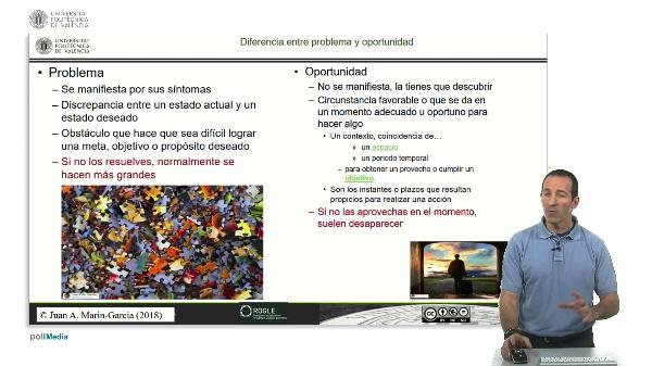 Diferenciar problemas de oportunidades