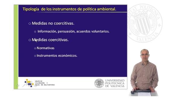 Tipología de Instrumentos de Política Ambiental