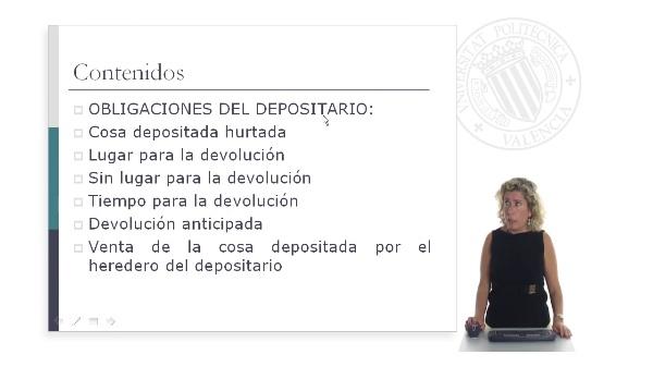 Obligaciones del depositario (II)