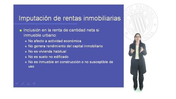 Planificación Fiscal. Imputación rentas