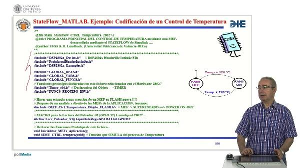 Curso de ingeniería del software para sistemas embebidos. Modulo 13 parte 9. StateFlow_MATLAB