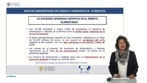 Máster Universitario en Ciencia e Ingeniería de Alimentos