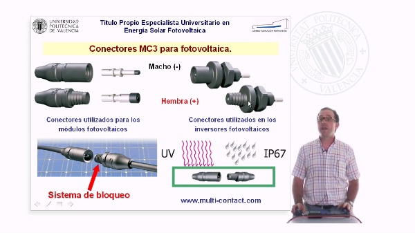 Montaje de los conectores MC3 de Multi-Contact