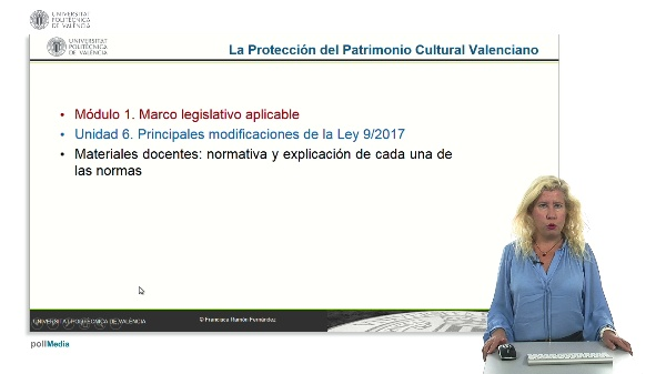 La protección del patrimonio cultural valenciano. Módulo 1. Unidad 6