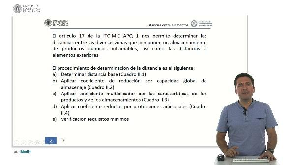ITC MIE APQ-1: Determinación de la distancia entre instalaciones fijas de superficie y entre recipientes
