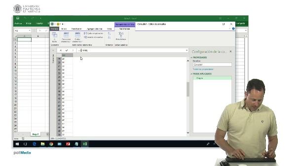 Excel Power Query. Generación de listas