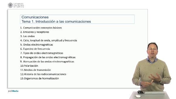 Introducción a las radiocomunicaciones. Índice tema 1