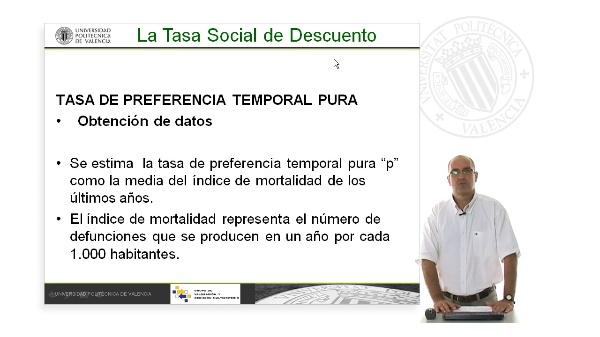 Cálculo de la tasa de descuento social. Tasa de preferencia temporal pura