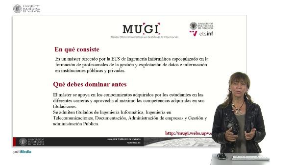 Master Oficial Universitario en Gestión de la Información