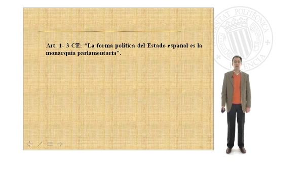 La monarquía parlamentaria en la Constitución Española de 1978