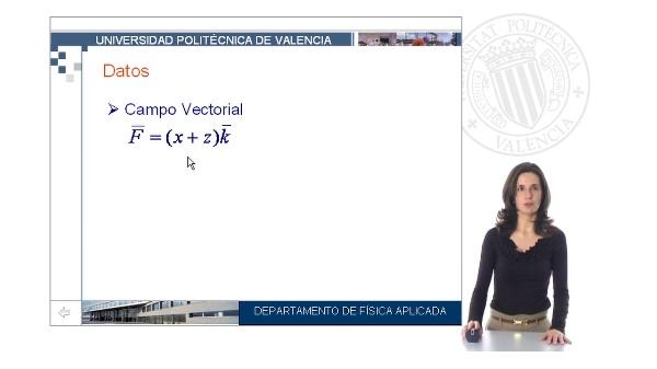 Cálculo del flujo de un campo vectorial