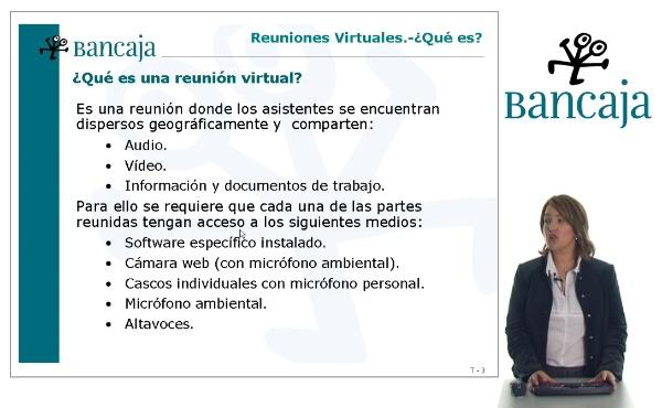 Reuniones virtuales. Formación para los empleados de Bancaja