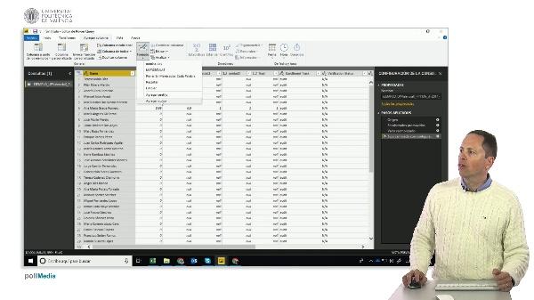 MOOC Power BI. Importación de datos, opciones de agregar columnas