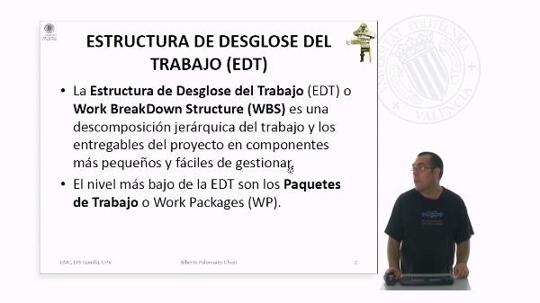 Estructura de desglose del trabajo (EDT)