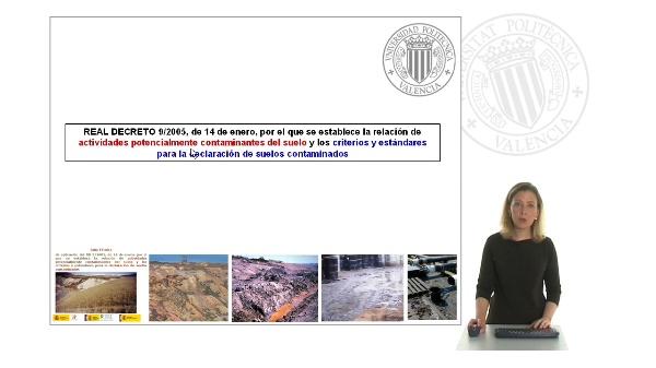 Legislación Suelos Contaminados: Real decreto 9/2005