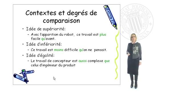 Expression de la comparaison