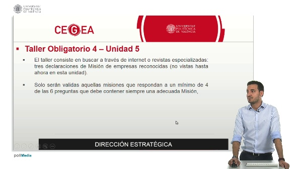 Video explicativo. Taller 4. Unidad 5.