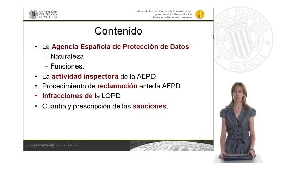 Tema 8. La Agencia Española de Protección de Datos