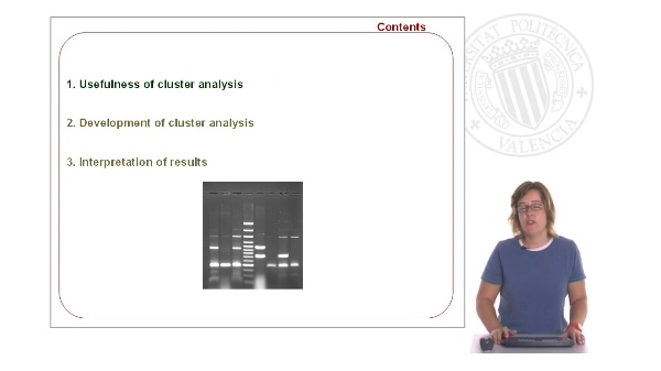 Cluster analysis: application to molecular variability studies