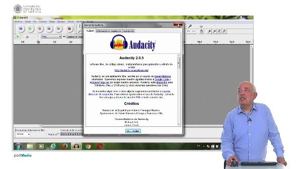 Audacity. Pestañas Ayuda y Reducción de ruido