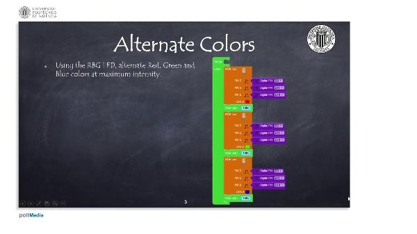 Programming Example: Alternate colors