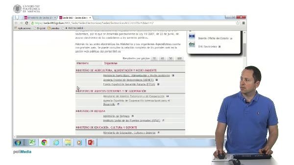 Ejercicio práctico. Buscar servicios de administración electrónica del Ministerio de Educación