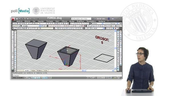 Modelado 3D mediante funda con Autocad