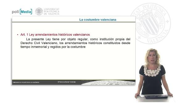 La costumbre valenciana y supletroriedad