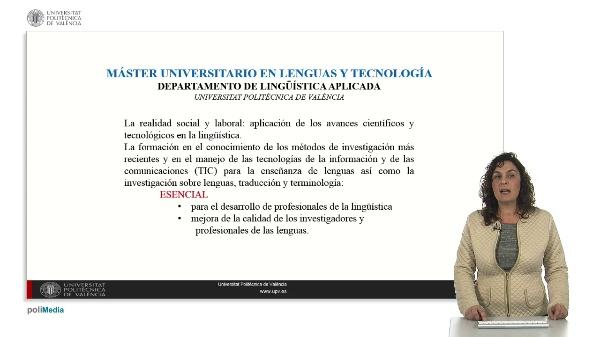 Master Lenguas y Tecnología