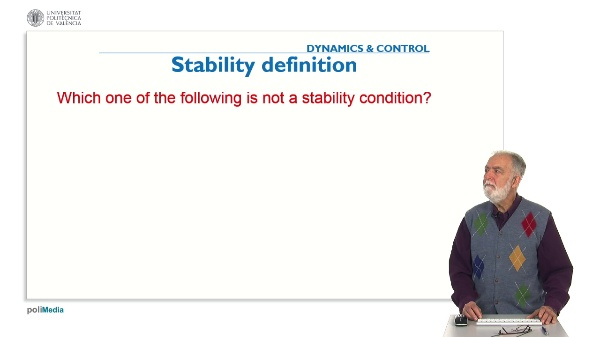 Propierties of Controlled Systems. Question 4. Stability