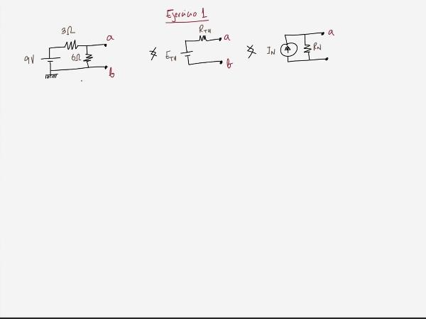 Teoría de Circuitos 1. Lección 3. 8.2.2 Cálculo resistencia equivalente Thevenin. Ejercicio 1