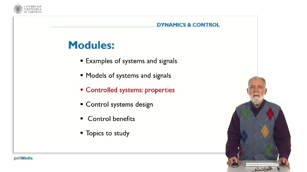 Propierties of Controlled Systems. Question 1. Regulation system