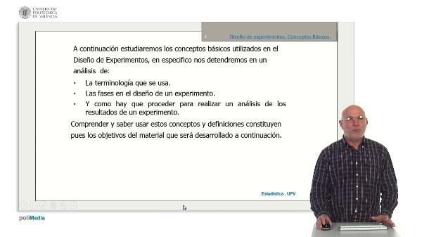 Diseño de experimentos. Conceptos basicos