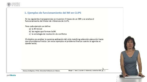 Tema 2, Lección 3: Inferencia en SBR: encadenamiento y control. RETE.