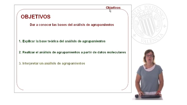Análisis de agrupamientos:  aplicación a estudios de variabilidad molecular