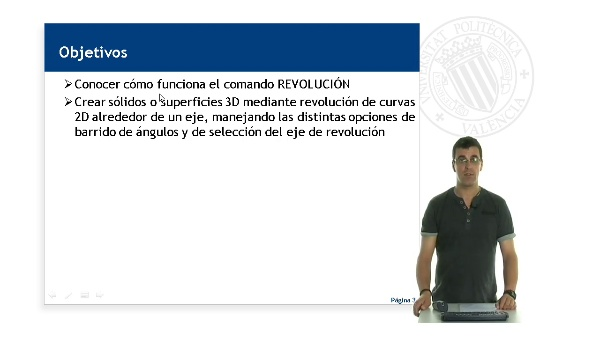 AutoCAD, Creacion de objetos 3D a partir de elementos 2D mediante Revolucion