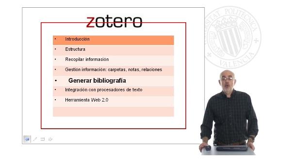 Zotero 3: Elaboración de bibliografías y gestión con procesadores de texto (3/4)