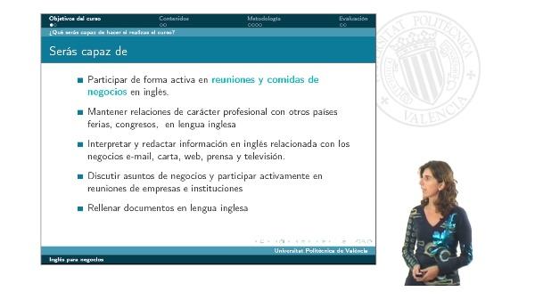 Presentación curso Inglés para Negocios