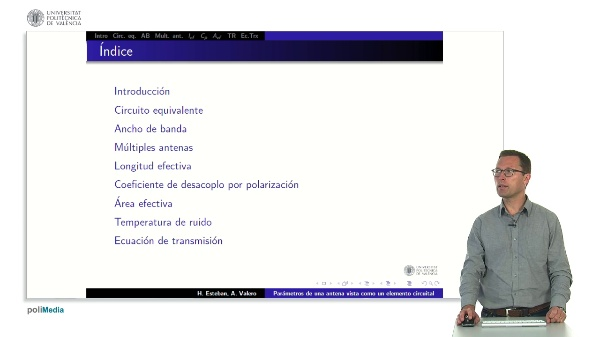 2.3.- Parámetros de una antena como elemento circuital