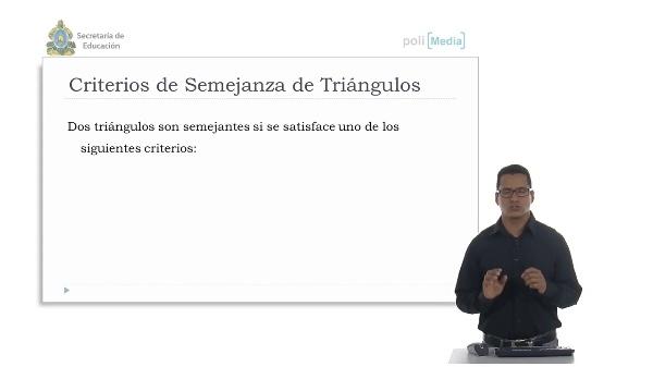 Aplicación de semejanza de triángulos