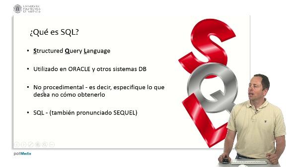 Bases de datos, propiedades y almacenamiento. Lenguaje de Consulta Estructurado (SQL)