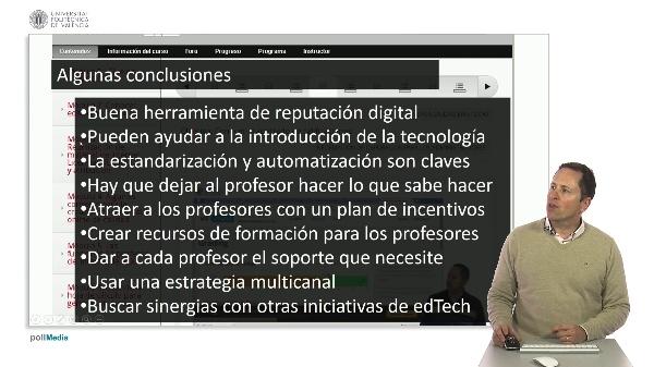SPOC Gestión de MOOC. Conclusiones sobre la iniciativa MOOC en la UPV