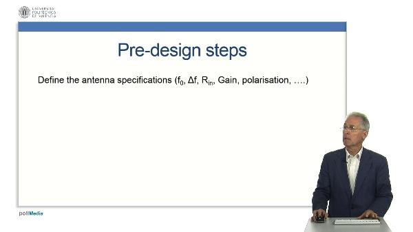 Microstrip Antennas - Pre-design procedure