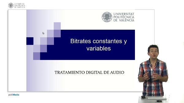 Bitrates constantes y variables