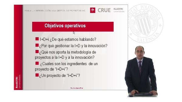 Módulo 1: Introducción a la gestión de proyectos de I+D+i
