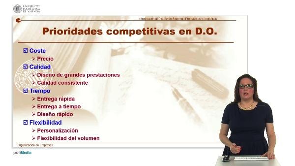 Prioridades Competitivas y Como Clasificar los Sistemas en la Direccion de Operaciones