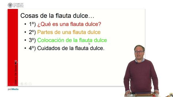 Las partes de la flauta dulce: partes y cuidados