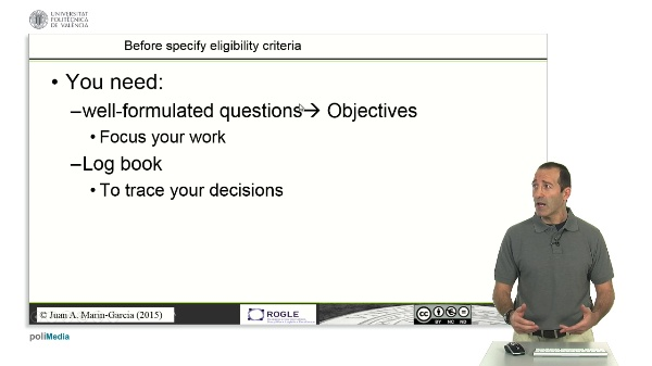 Specify inclusion criteria SLR (ADVANCED)