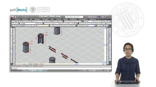 Modelado 3D mediante pulsar-tirar con Autocad